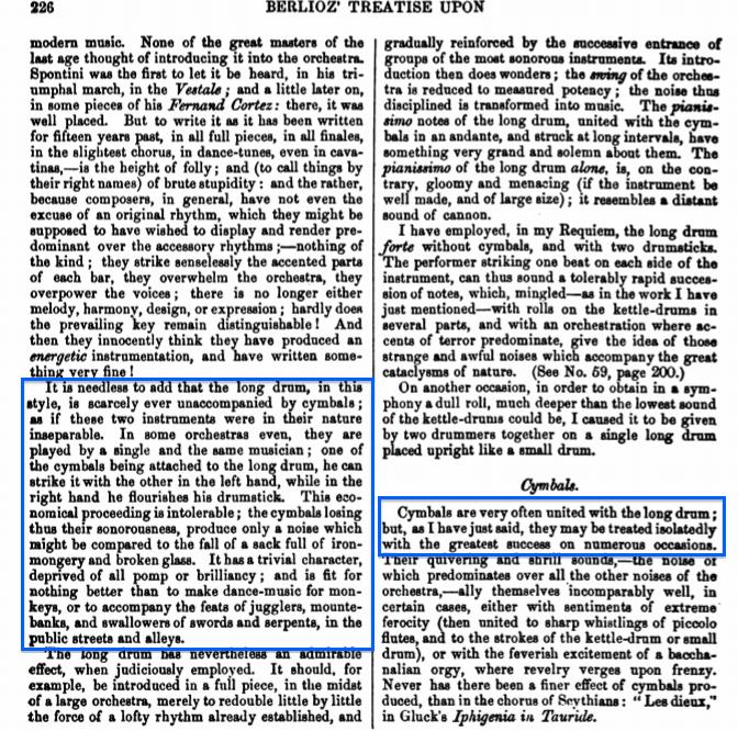 Extracto de texto del libro de Berlioz